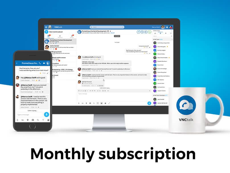 VNCmeet Service - monthly subscription